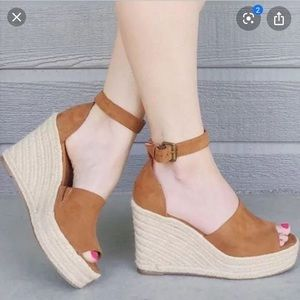 NWT Espadrille Wedges
